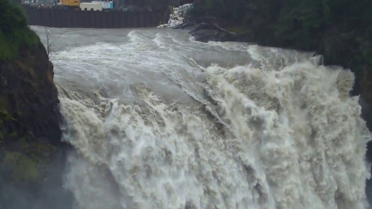 Snoqualmie Falls Flood Waters Hd Youtube
