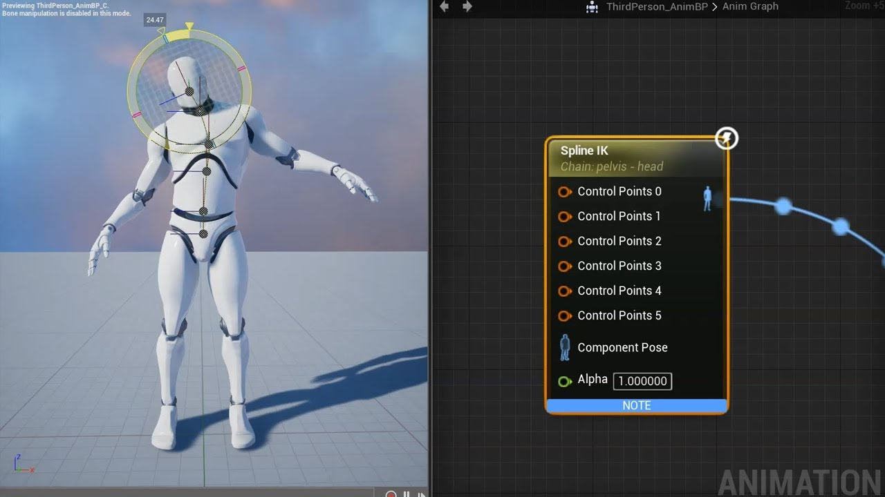 416 released unreal engine forums a spline ik node that is useful for controlling character spines or bone chains has been added to animation blueprints malvernweather Images