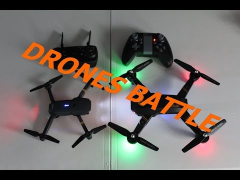 EACHINE E58 VS TIANQU XS809 ,DRONES BATTLE ,TEST PRESQUE COMPLET + TUTO HEADLESS MODE VISUO