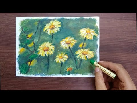 How to Draw Wildflowers in Oil Pastel | Beginner's Art Tutorial | Saminspire thumbnail