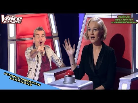 FEMALE ROCKSTARS BLIND AUDITION IN THE VOICE