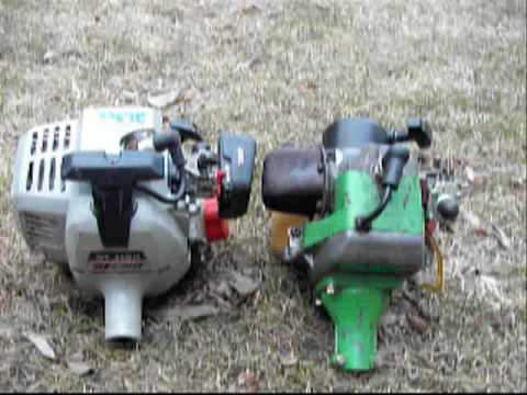 The Green Machine And Echo Weed Wacker Engine Youtube