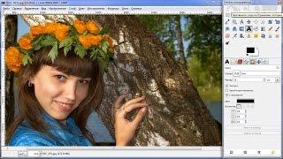 Обработка фотографии в GIMP Тонирование Цветокоррекция Ретушь. Gimp уроки.