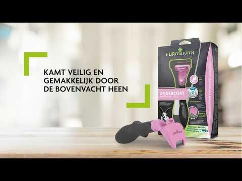 FURminator® Undercoat deShedding Tool voor konijnen, cavia's en andere kleine huisdieren (NL)