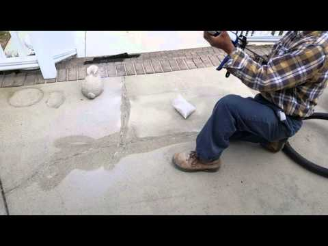 How To Repair Cracks In Concrete Patio And Deck.