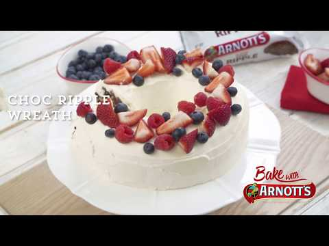 Arnott's Choc Ripple Wreath Cake