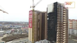 Последствия пожара в Одинцове: вид с воздуха