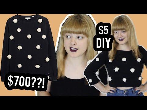 DIY Pom Pom Sweater | Make Thrift Buy #38