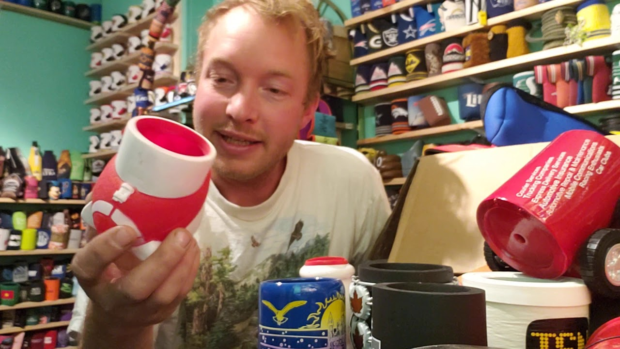 Opening a giant Box of Vintage Koozies!