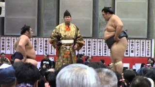 大相撲山梨富士山巡業での「栃煌山vs琴奨菊」