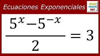 ECUACIONES EXPONENCIALES - Ejercicio 10