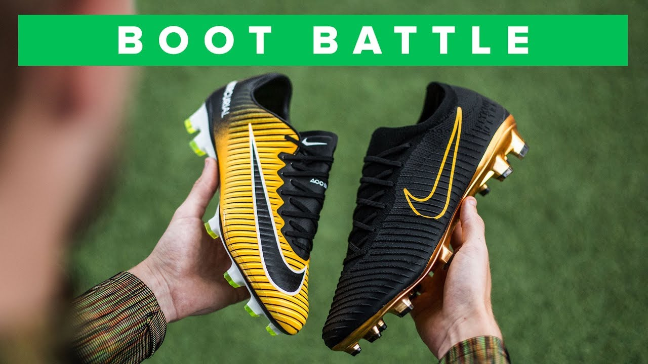 timeless design 5e4c0 ccf57 NIKE FLYKNIT ULTRA vs VAPOR 11 BOOT BATTLE