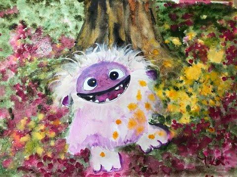 Уроки рисования для детей и взрослых. Эверест. Герой мультфильма и  рассказ о горе Джомолунгме.
