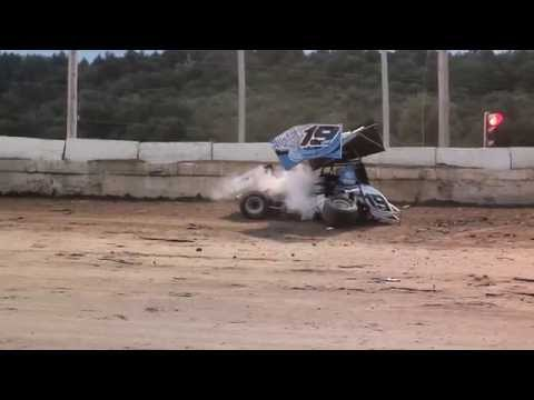 CRSA Sprint Car Flips at Lebanon Valley Speedway