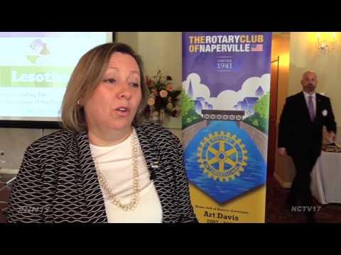 Naperville Rotary Wraps Mayor Emeritus Pradel in Valor