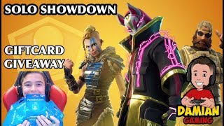 🔴 SOLO SHOWDOWN FORTNITE 🔴 | GIFTCARDS PSN - XBOX - STEAM GIVEAWAYS | LIVE