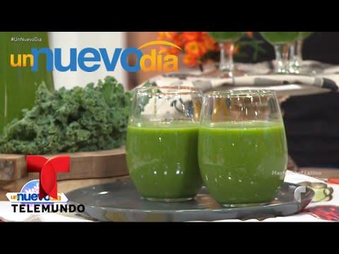 Recetas de cocina: cómo hacer Jugo Verde Desintoxicante | Un Nuevo Día | Telemundo