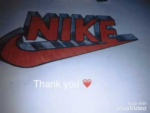 How To Draw Nike Logo In 3d Comment Dessiner Nike En 3d Simple Art Youtube