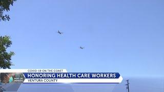 Flyover soars over Ventura County Hospitals, Santa Barbara Cottage Hospital