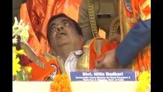 Union Minister Nitin Gadkari falls unconscious during national anthem in Maharashtra