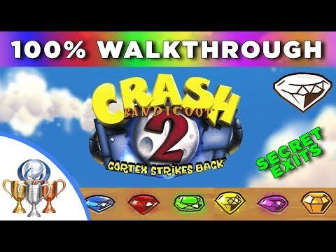 Crash Bandicoot 2: Cortex Strikes Back 100% Walkthrough - All Gems, Secret Exits, Death Routes, etc