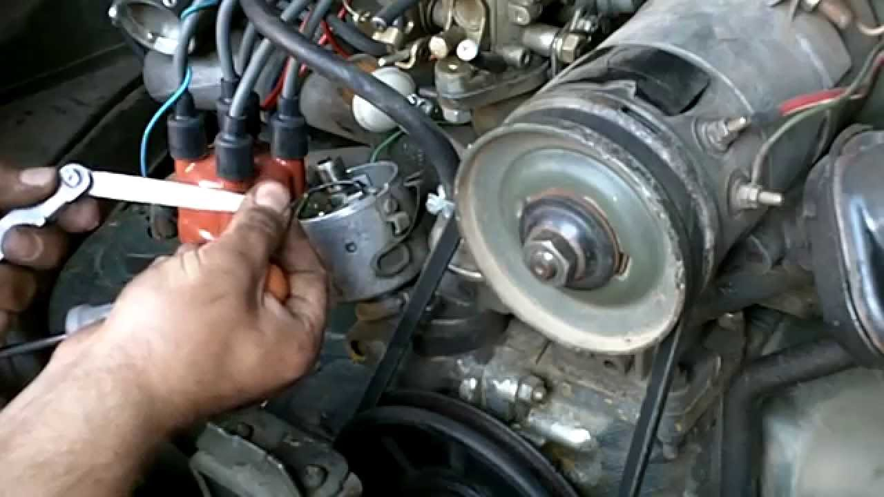 vw aircooled setting ignition timing  points youtube