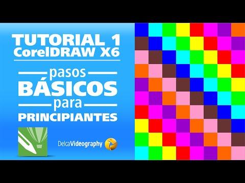 TUTORIAL 1 en Español: Curso CorelDRAW X4, X5 y X6 para principiantes ...