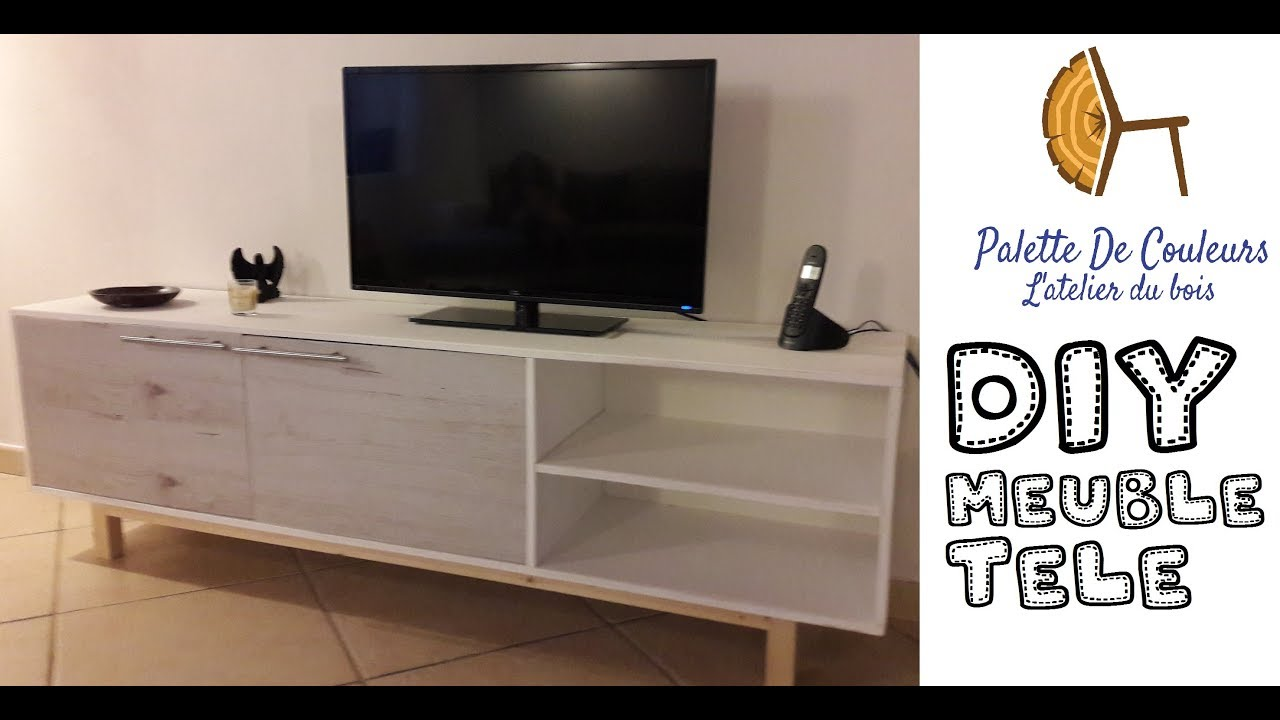Meuble Tv En Palette Facile Manufacture Of A Tv Stand