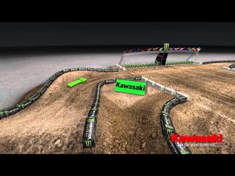 Supercross LIVE 2013 – San Diego 2913 – Monster Energy Supercross Animated Track Map