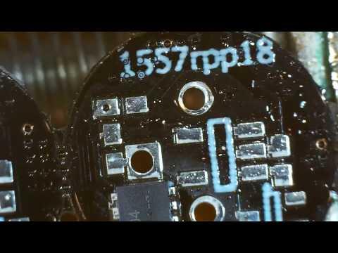 Microscope soldering of 1557 Pico NXT prototype PWM PotBelly