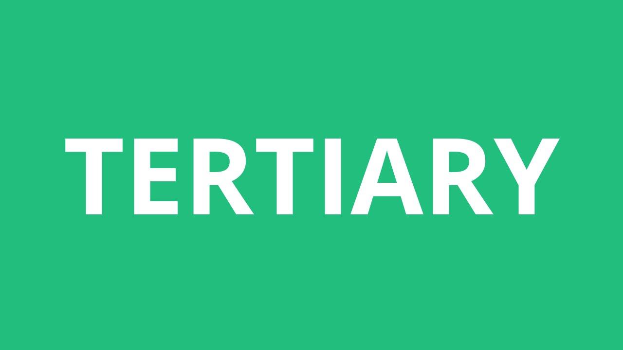 how to pronounce tertiary pronunciation academy youtube
