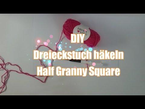 Dreieckstuch Häkeln Diy Half Granny Square Anfänger