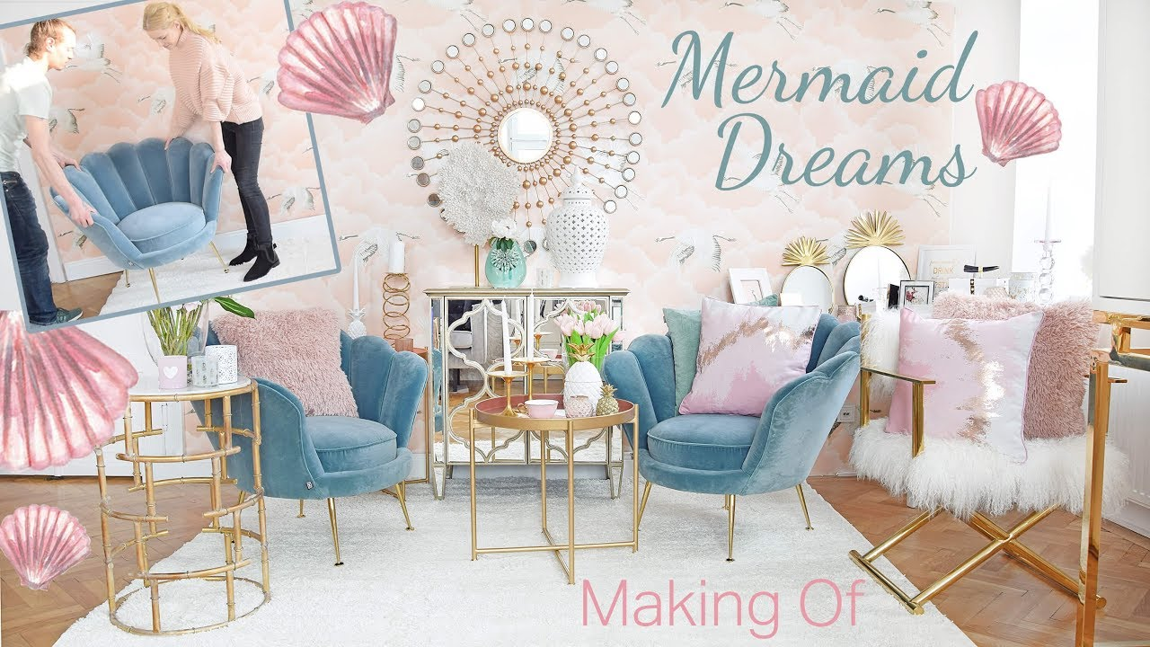 Making Of Mermaid Dreams Wohnzimmer Lounge I Diy I Pure Velvet