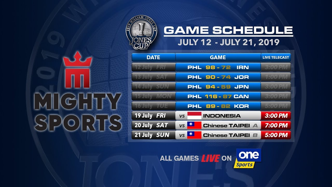 Download JULY 19: 41st William Jones Cup: Mighty Sports - Go for Gold Philippines vs Indonesia
