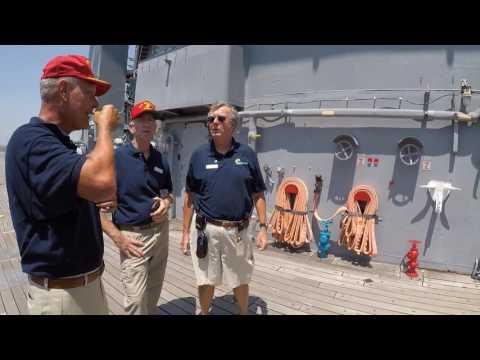 US Marine 5 inch Gun Mount USS Wisconsin