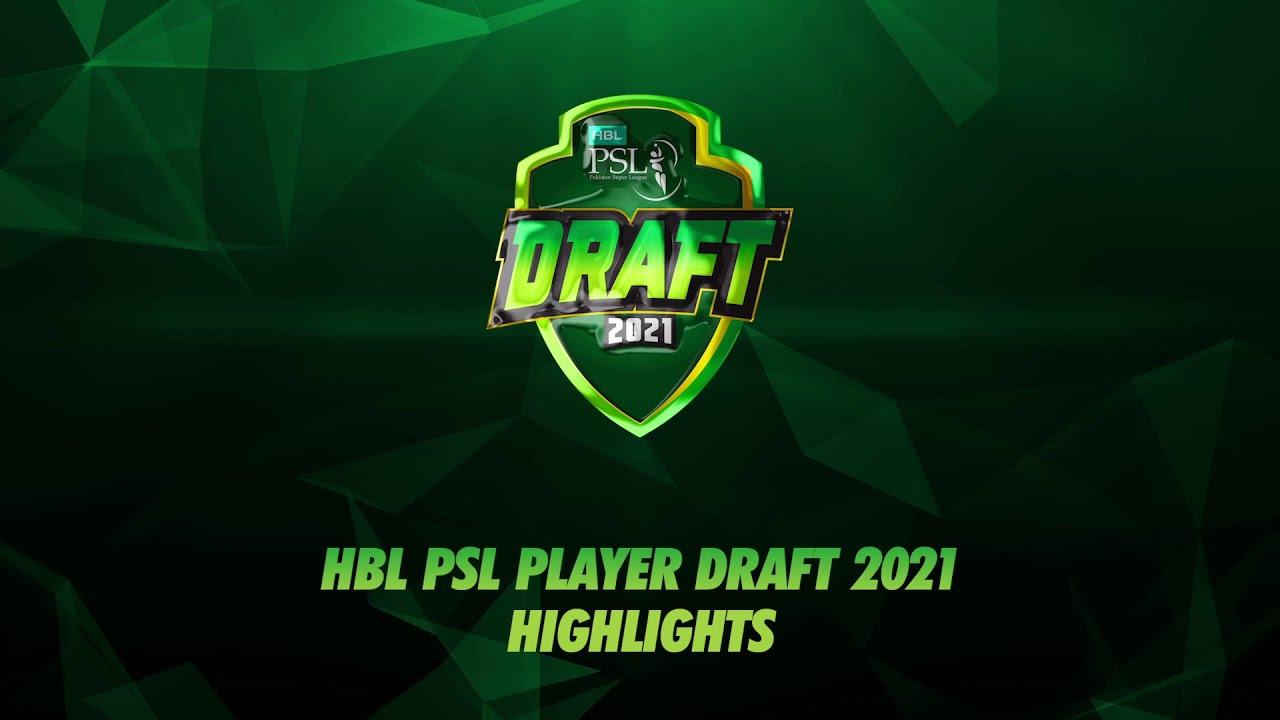 HBL PSL Player Draft 2021 Highlights