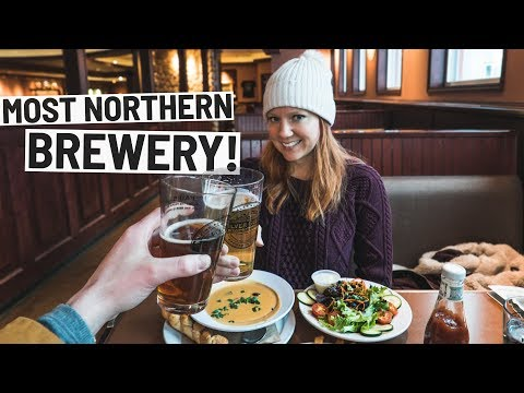 Dinner at MOST NORTHERN BREWERY IN AMERICA! + First Time Snowmobiling! (Fairbanks, Alaska)