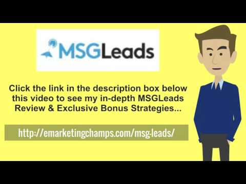 "[MSG Leads Review] Honest Review & Bonus Strategies: (MSGLeads Review) See honest review of MSG Leads, learn how it works & discover unique MSG Leads BONUS strategies: http://emarketingchamps.com/msg-leads/  ----  While getting content for your MSG Leads review site, equate ""Find a Freelancer"" services in terms of prices, reputation, fields of expertise, and risk-assessment. Seek an escrow payment scheme that provides protection to both parties and keep away from paying a fee if there's no advantage in doing so. Get bids from 3 to 5 suppliers and equate qualifications and terms.  Choose a local freelancer if you're uncomfortable with outsourcing work to freelancers on the net or when it's cost productive to do so because your MSG Leads bonus package needs to be relatively low cost. Great sources to discover a freelancer include the telephone book, trade journals and occasionally the paper or net classified ads. Understand that the quality of advertisement doesn't always equate with great service.  Supply details of the work to be executed and any legal forms calling for signature, like non- disclosure agreements, if setting up to commit to a freelancer. Likewise talk about payment terms, guarantees and insurance matters before hiring a freelancer's services.  Make yourself approachable to steady communication to maximize success but prevent micro-managing or treating an independent contractor as an employee, both for pragmatic and tax purposes. For big projects set a virtual or in the flesh meeting to critique completed work or input on the procedure.  MSGLeads Review - https://www.youtube.com/watch?v=chvPByff4TM  See honest review of MSG Leads, learn how it works & discover unique MSGLeads BONUS strategies:  http://emarketingchamps.com/msg-leads/"