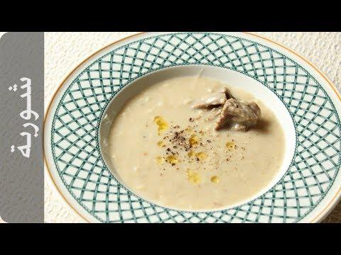 شوربة بيضاء بالشوفان أطيب طبخة