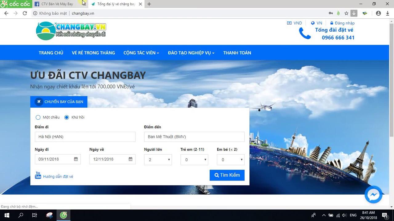 Hướng Dẫn Tra Vé Máy Bay Rẻ Nhất Trong Tháng – ChangBay.VN