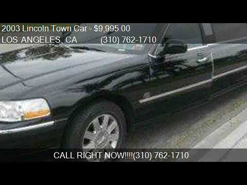 2003 Lincoln Town Car Executive For Sale In Los Angeles Ca Youtube