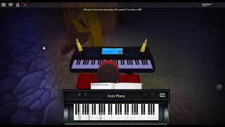 No Mercy de: The Living Tombstone en un piano ROBLOX.