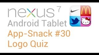 Tablet Android Apps: #30 Logo Quiz - Nexus 7