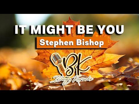 IT MIGHT BE YOU - Stephen Bishop KARAOKE