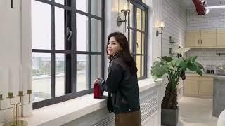 [해외직구] 2019 여성 가죽 라이더 자켓 점퍼 가을…