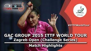 Zagreb Open 2015 Highlights: SABITOVA Valentina Vs KIM Mingyung (Pre. Rounds)
