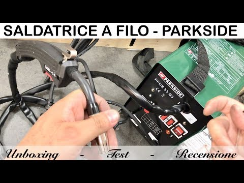flux cored Wire welder review. parkside. PFDS 33 B3. lidl. test operation and explanation of use