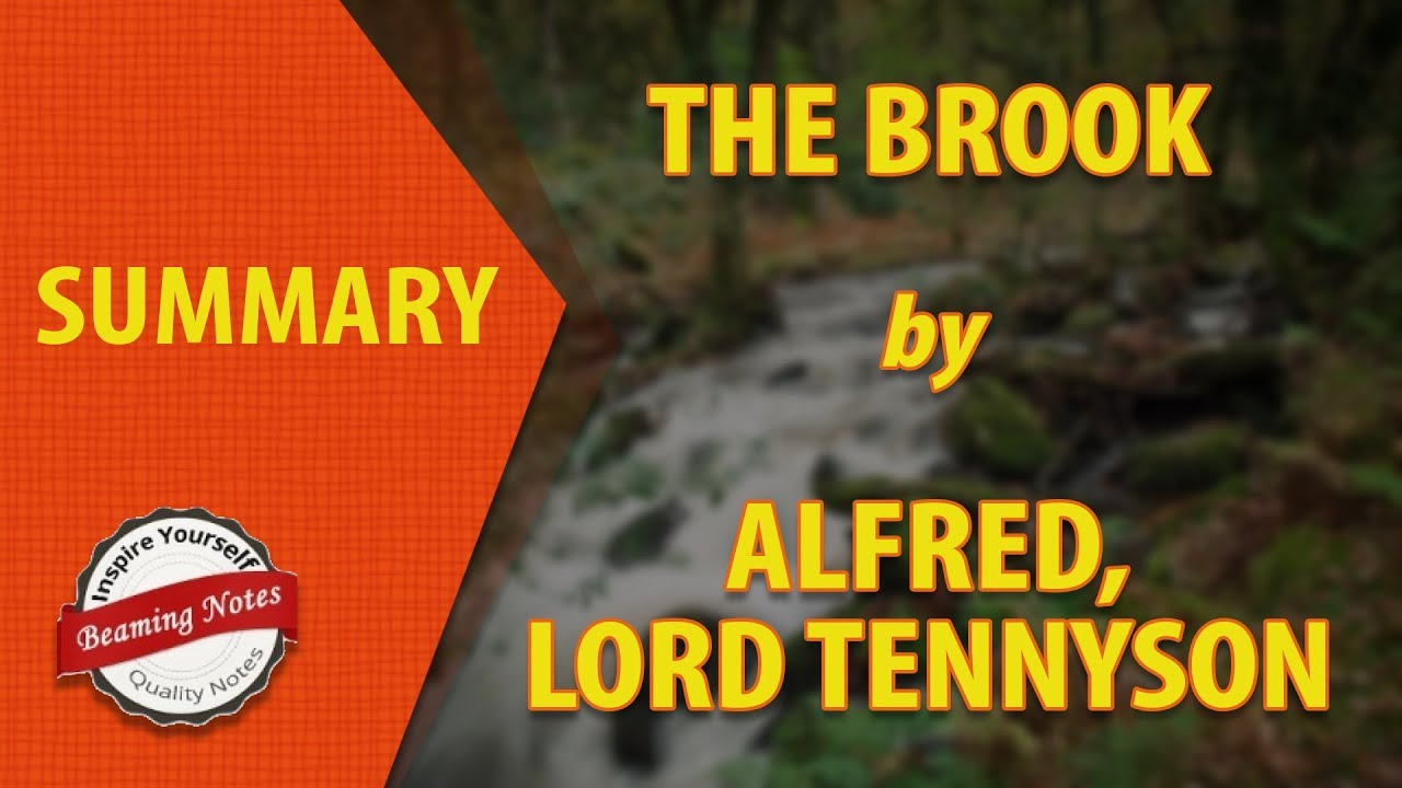 the brook by alfred lord tennyson summary