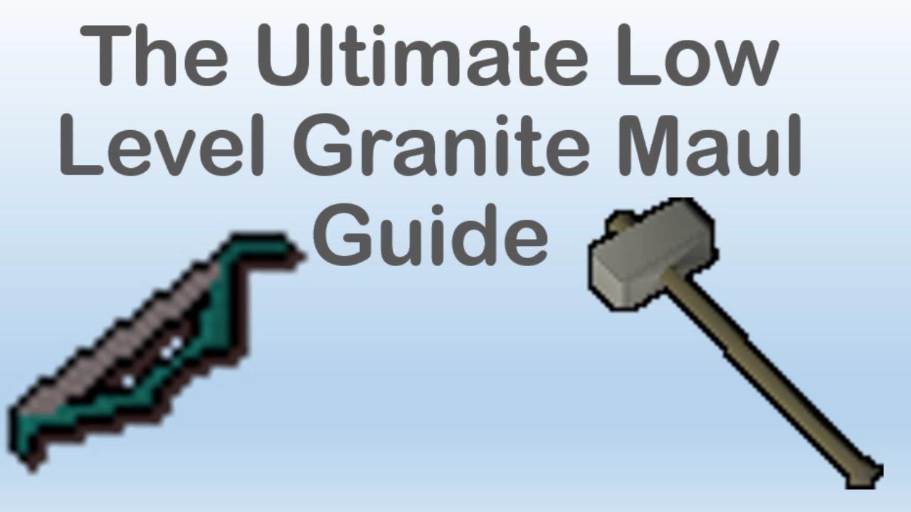 The Ultimate Granite Maul Pure Guide Oldschool Runescape