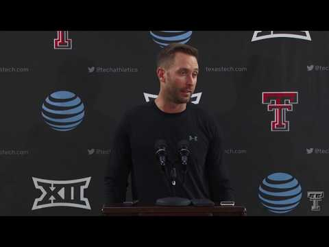 Texas Tech Football Kliff Kingsbury Weekly Press Conference: 11/20/18